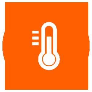 Temperature Sensors Icon for IoT in Mining